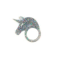 Unicorn Ring in Glitter Hologram
