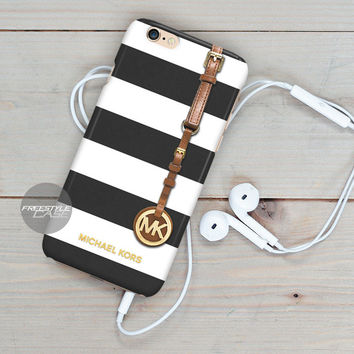 Michael Kors Jet Set Striped Black iPhone Case Cover Series