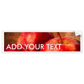 Three Red Apples Bumper Sticker