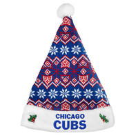 Chicago Cubs Knit Santa Hat - 2015