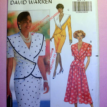 Women's Top, Skirt & Split Skirt Misses' Size 6, 8, 10 Butterick 5432 Sewing Pattern Uncut