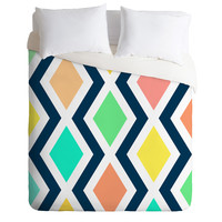Rebecca Allen Delighted II Duvet Cover