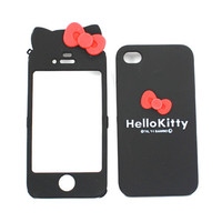 Cute Hello Kitty Style Double Side Case for iPhone 4G 4S - Black $5.18 - Free Shipping, iPhone Cases & Armbands