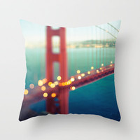 Meet Me In San Francisco Throw Pillow by Laura Ruth
