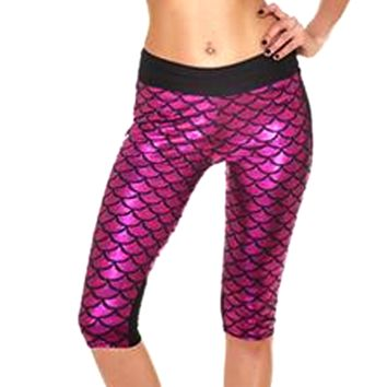 Mermaid Fitness Shorts - Pink