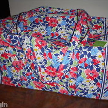 Vera Bradley SUMMER COTTAGE Retired Travel XL DUFFEL Bag - NWT
