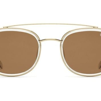 Quay Got It Covered Clear Sunglasses / Brown Lenses