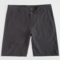 Nitrous Black Admiral Mens Hybrid Shorts - Boardshorts And Walkshorts In One Black  In Sizes