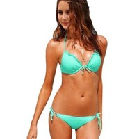 Sunnydate @2014 NEW Style for Swimwear Beachwear Bikini Swimsuit for Women Push Up with Free Waterproof Case