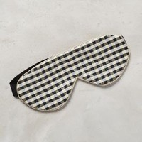 Perpetual Shade Gingham Sleep Mask in Black & White Size: One Size Lounge