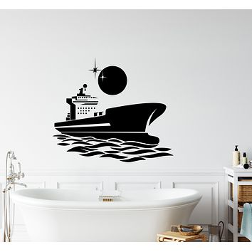 Wall Decal Sea Ocean Night Stars Romantic Interior Marine Ship Night Vinyl Decor gz402