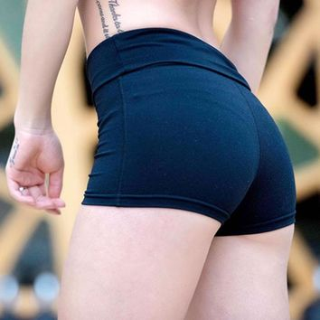 Quick-drying Women Gym Compression Booty Shorts Spandex Ladies Volleyball Running lycra Athletic