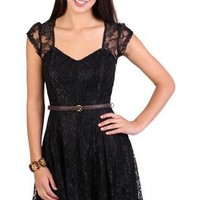 all over lace skater dress - debshops.com