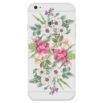 Floral Watercolor Bouquet Clear Phone Case