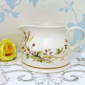Marks & Spencer Harvest Large Jug or Pitcher, Gravy, Milk, Cream, Water, Oven to Tableware, Made in England, Vintage Wedding, Cottage Chic