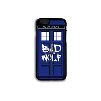 Doctor Who - Bad Wolf Tardis Case for iPhone 4/4S/5/5S/5C/6/6+ and Samsung S3/S4/S5 in Hard Plastic/Rubber FREE STANDARD SHIPPING!