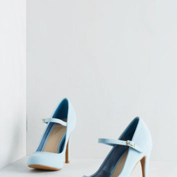 Vintage Inspired Shoe Had Me At Hello Heel in Sky
