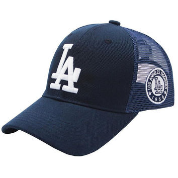 LA Dodgers baseball cap spring and summer mesh breathable coupl c89a00114a5