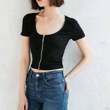 Project Social T Zip-Up Top - Urban Outfitters