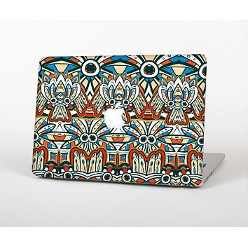 The Decorative Blue & Red Aztec Pattern Skin for the Apple MacBook Pro Retina 15""
