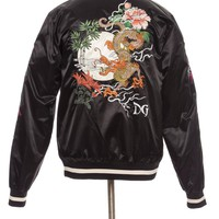 Dolce & Gabbana Men's Black Embroidered Souvenir Jacket