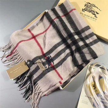 NOV9O2 Luxury Burberry Keep Warm Scarf Embroidery Scarves Winter Wool Shawl - Multicolor 3