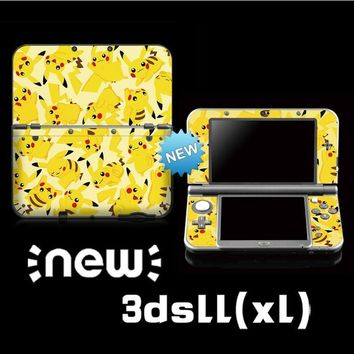 Vinyl Cover Decal Skin Sticker FOR  for Nintend o New 3DS XL /3DS LL Console Skins StickerKawaii Pokemon go  AT_89_9