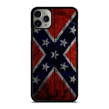 WOODEN REBEL FLAG iPhone Case Cover