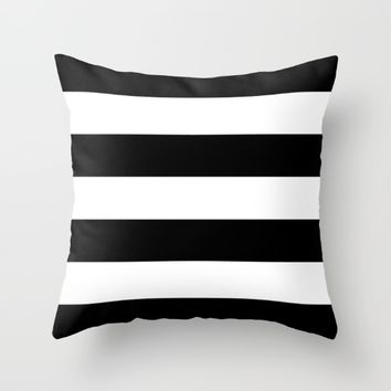 #11 Lines Throw Pillow by Minimalist Forms