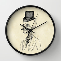 Old Gentleman Wall Clock by Mike Koubou