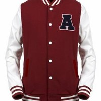 Freshman Year Varsity Letterman Jacket in Burgundy | Sincerely Sweet Boutique