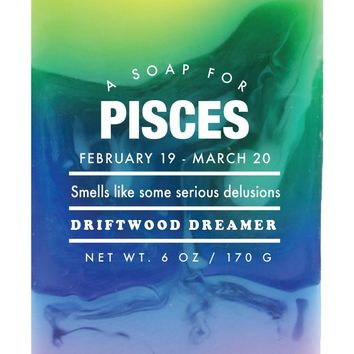 Pisces Driftwood Dreamer Scented Soap - Smells Like Some Serious Delusions