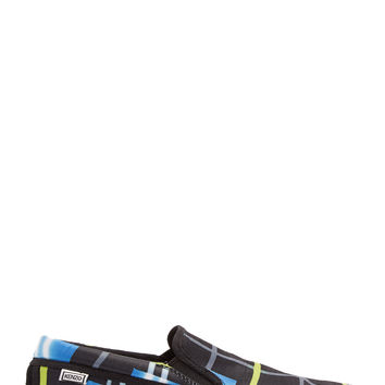Kenzo Black And Chartreuse Double Check Skate Sneakers