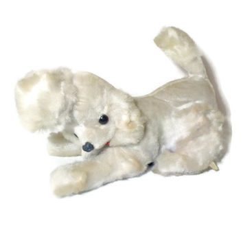 Vintage Japanese Radio Poodle Stuffed Animal Toy -1950s, 1960s