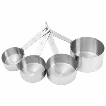 4pc T304 Stainless Steel Measuring Cup Set