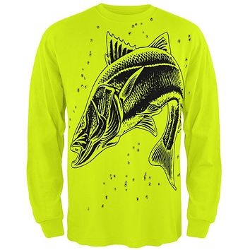 Snook Sergeant Fish Robalo Mens Long Sleeve T Shirt