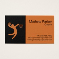 Professional Basketball Coach Business Card