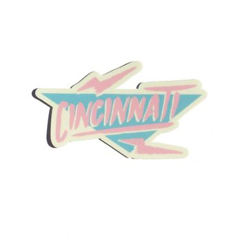 90's Electric Cincinnati Sticker