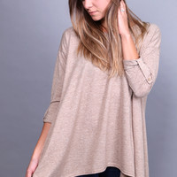 October's Silhouette Top {Taupe}