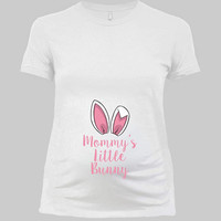 Easter Maternity Shirt Pregnancy Announcement Baby Reveal Easter Bunny Pregnant T Shirt Mom To Be Gifts For Expecting Mothers- SA1034