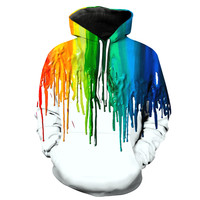 Dripping Rainbow Paint V2 Hoodie