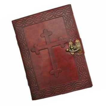 Leather Journal with Celtic Cross