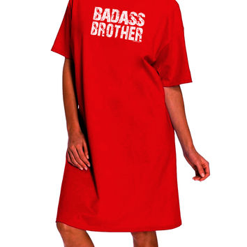 Badass Brother Dark Adult Night Shirt Dress