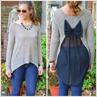 Simply Irresistible Black Bow Back Sweater