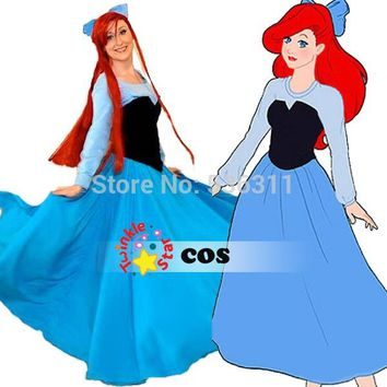 sexy costumes for women The little Mermaid adult Princess Ariel dress Cosplay Costumes Princess dress Halloween costume