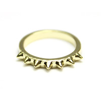 Gold Spike Top Knuckle Ring