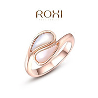 ROXI Exquisite Water Drop Opal Ring 18K Rose Gold / White Gold Plated  Elegant Tin Alloy Ring Fashion Jewelry 's For Women = 1958317892