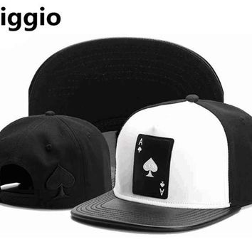2017 Biggio 9 Colors Men Women Adjustable Snapback Casquette Play Cards Poker A Hip Hop Caps Fashion Baseball Hats