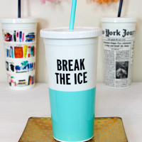 kate spade: tumbler with straw 20 oz-break the ice