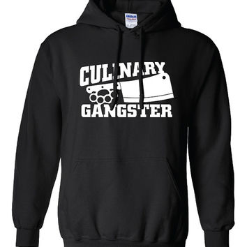 Culinary Gangster Chef prep Cook food foodie restaurant geek cool Printed hoodie hooded sweatshirt Mens Ladies Womens Funny mad labs ML-229